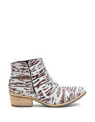 Matisse Fury Leather Ankle Boots Zebra