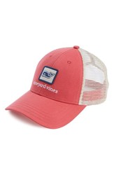 Vineyard Vines Men's Whale Patch Trucker Hat Red Jetty Red