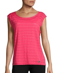 New Balance Sheer Striped Active Top Blossom