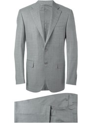 Canali Glen Check Two Piece Suit Grey