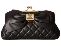 Love Moschino Quilted Bow Clutch Black