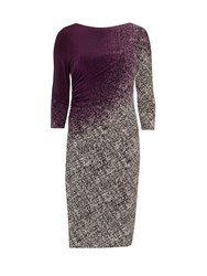 Gina Bacconi Ombre Autumn Jersey Dress Purple