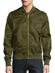 Members Only Ma 1 Solid Bomber Jacket Olive