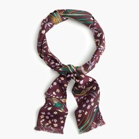 J.Crew Drake's For Long Silk Scarf Wine Lilac Multi