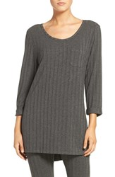 Daniel Buchler Women's Rib Knit Lounge Top