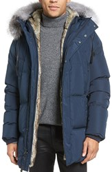 Andrew Marc New York Men's Freezer Down Jacket With Genuine Fox Fur Trim Hood
