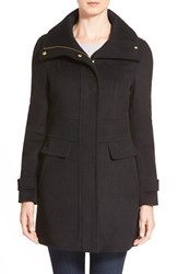 Women's Cole Haan Signature Stand Collar Wool Blend Coat