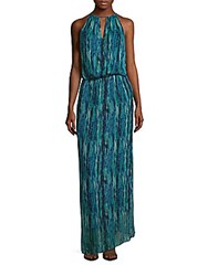 Ramy Brook Back Tie Up Printed Silk Gown Julep Multicolor
