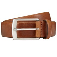 John Lewis Made In Italy Nevada Leather Belt Tan