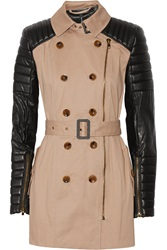 W118 By Walter Baker Keanu Quilted Faux Leather And Cotton Trench Coat