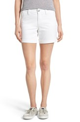 Women's Nydj 'Avery' Roll Cuff Denim Shorts Optic White