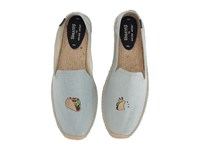 Soludos Embroidered Smoking Slipper Chambray Men's Flat Shoes White