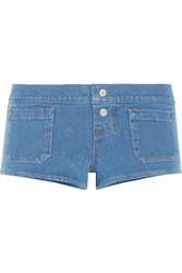 J Brand Stretch Denim Shorts Mid Denim