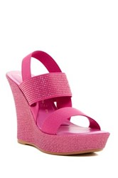 Italian Shoemakers Microstud Wedge Sandal Pink