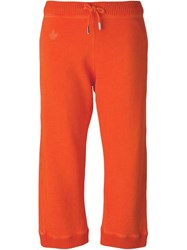 Dsquared2 Cropped Track Pants Yellow And Orange