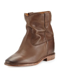 Isabel Marant Cluster Slouchy Leather Ankle Boot Brown