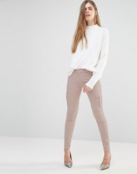 7 For All Mankind Skinny Cargo Pants Nude Beige