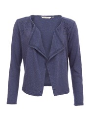 Garcia Embellished Waterfall Cardigan Navy
