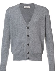 Maison Kitsune V Neck Cardigan Grey