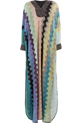 Missoni Embellished Crochet Knit Maxi Dress Multicolor