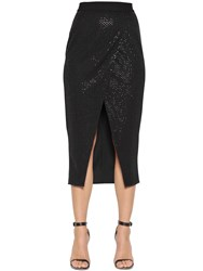 Self Portrait Beaded Sequin Jersey Envelope Skirt