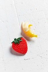 Urban Outfitters Fruit Hair Clip Set Yellow