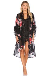 Band Of Gypsies Vintage Floral Robe Black