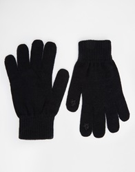 Asos Plain Touch Screen Gloves Black