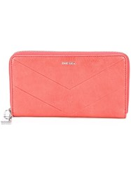 Diesel 'Granato' Wallet Pink And Purple