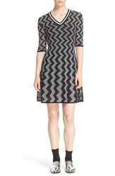 M Missoni Women's V Neck Fit And Flare Knit Dress
