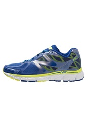 New Balance W1080 Cushioned Running Shoes Blue Yellow
