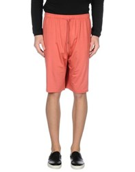 Derek Rose Trousers Bermuda Shorts Men Coral