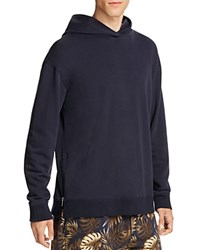 Vince French Terry Side Zip Pullover Hoodie Coastal