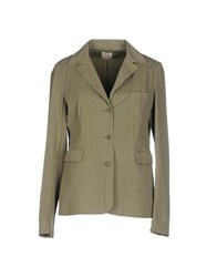 Douuod Suits And Jackets Blazers Women Military Green