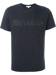 Engineered Garments Hell's Kitchen Print T Shirt Blue