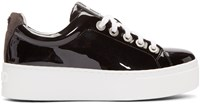 Kenzo Black Patent Leather Platform Sneakers