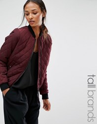 Vero Moda Tall Quilted Bomber Jacket Decadent Chocolate Brown