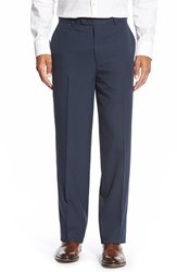 Men's Big And Tall Linea Naturale Wrinkle Free Micro Twill Pants Navy