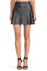 Twelfth St. By Cynthia Vincent Faux Leather Pleated Mini Skirt Black