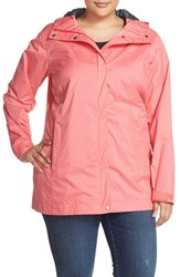 Plus Size Women's Columbia 'Splash A Little' Modern Classic Fit Waterproof Rain Jacket Black