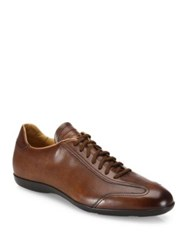Santoni Textured Leather Oxfords Brown