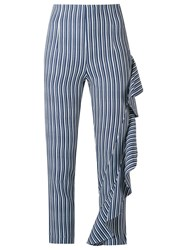 Giuliana Romanno Cropped Trousers Blue