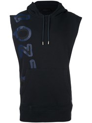 Diesel Black Gold Sleeveless Hoodie Blue