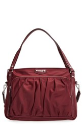 M Z Wallace Mz Toni Bedford Nylon Shoulder Bag Red Maroon