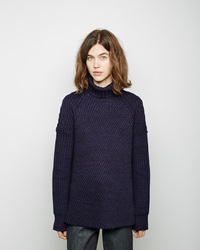 Apiece Apart Pia Turtleneck Sweater Navy Melange