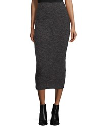 Elizabeth And James Eliza Fitted Midi Skirt Charcoal Grey
