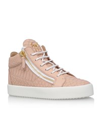 Giuseppe Zanotti Mid Top Snake Print Sneakers Female Nude