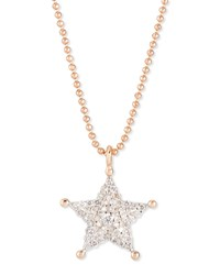 Sheriff Star 14K Rose Gold And Diamond Pendant Necklace Kismet By Milka