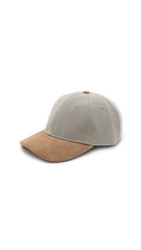 Rag And Bone Leather Brim Baseball Cap Aluminum