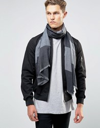 Esprit Woven Scarf In Two Tone Navy